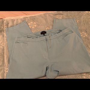 Beautiful Aqua Talbots Cropped Pants Size 24W